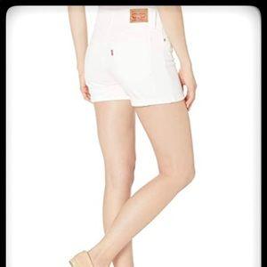 LEVIS Shorts Mid Length White SZ 30